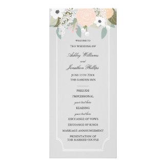 Grand programme floral de mariage cartons d'informations  10 cm x 22,9 cm