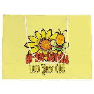 Grand Sac Cadeau 100th anniversaire - incroyable à 100 années