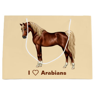 Grand Sac Cadeau Arabe égyptien de queue Flaxen de crinière de