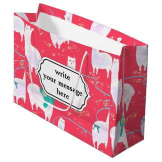 Grand Sac Cadeau Arrière - plan mignon de rouge d'illustration du