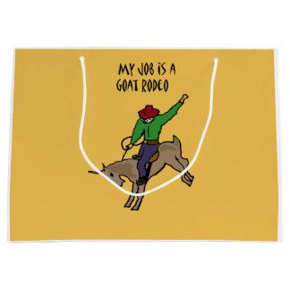 Grand Sac Cadeau Bande dessinée drôle d'humour du travail de rodéo