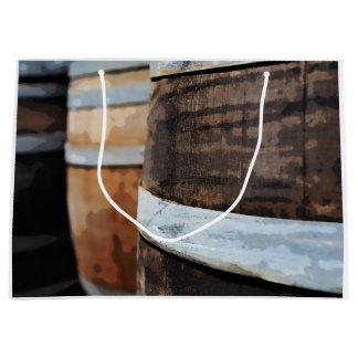 Grand Sac Cadeau Baril de vin de chêne