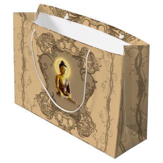 Grand Sac Cadeau Bouddha avec la lumière mystique et les éléments