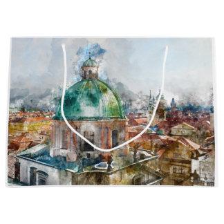 Grand Sac Cadeau Dôme de cathédrale dans la République Tchèque de