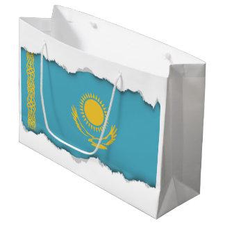 Grand Sac Cadeau Drapeau de Kazakhstan