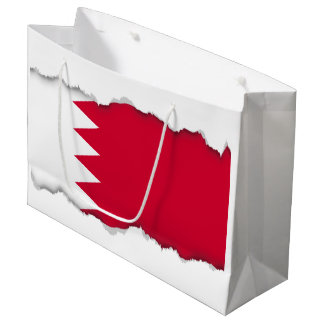 Grand Sac Cadeau Drapeau du Bahrain