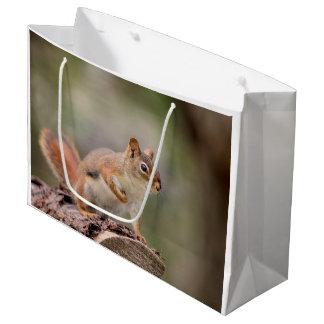 Grand Sac Cadeau Écureuil rouge
