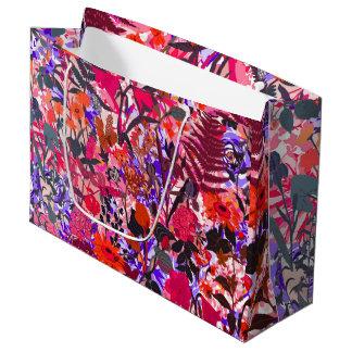 Grand Sac Cadeau Fleurs vintages de girley coloré mignon mélangées