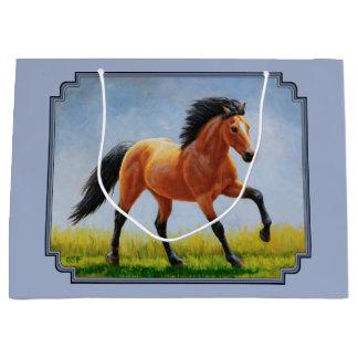 Grand Sac Cadeau Fonctionnement de cheval de peau de daim