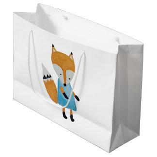Grand Sac Cadeau Fox adorable de région boisée d'amis de forêt