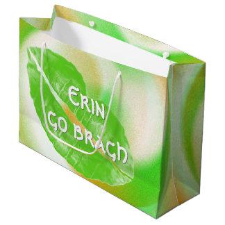 Grand Sac Cadeau Grande citation irlandaise verte de bragh de