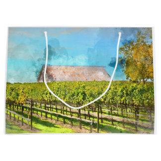 Grand Sac Cadeau Grange dans un vignoble dans Napa Valley la