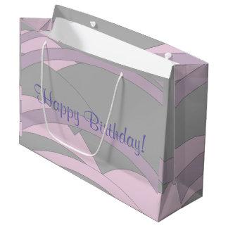 Grand Sac Cadeau Joyeux anniversaire élégant