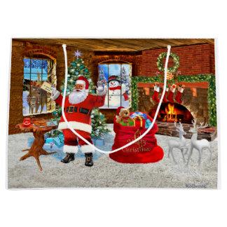 Grand Sac Cadeau Joyeux Noël de Père Noël