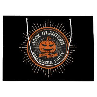 Grand Sac Cadeau Lanterne bizarre d'o de Jack. Partie de Halloween