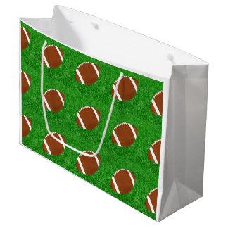Grand Sac Cadeau Les football sur la pelouse