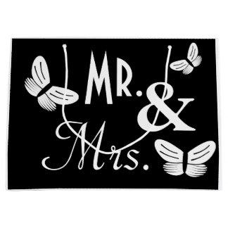 Grand Sac Cadeau M. et Mme Wedding/anniversaire