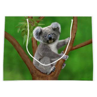 Grand Sac Cadeau Ours de koala aux yeux bleus de bébé