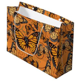 Grand Sac Cadeau Papillon de monarque