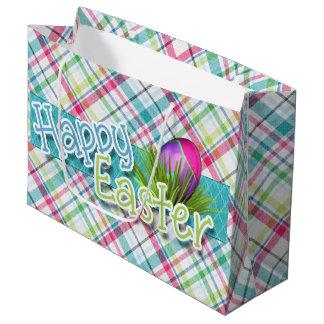 "Grand Sac Cadeau Pâques - art de mot de ""Joyeuses Pâques"" sur des"