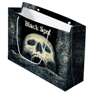 Grand Sac Cadeau Partie de pirate de tache noire de crâne de
