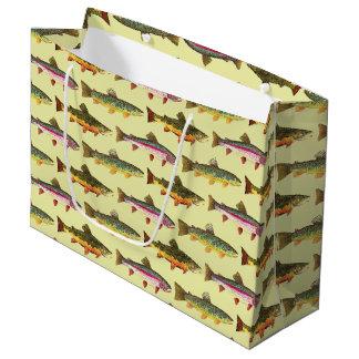 Grand Sac Cadeau Pêche belle de truite, ichtyologie