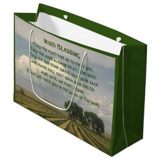 Grand Sac Cadeau Photo irlandaise de terres cultivables de
