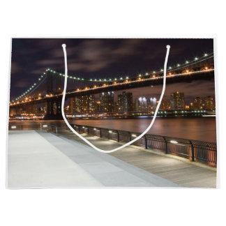 Grand Sac Cadeau Pont de Manhattan et horizon de NYC