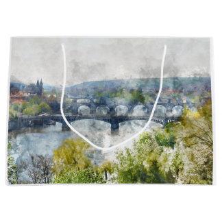Grand Sac Cadeau Ponts dans la République Tchèque de Prague