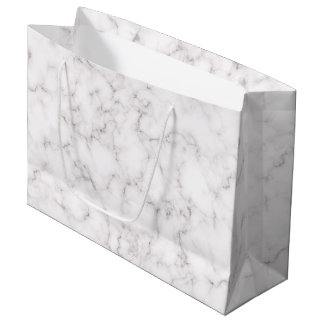 Grand Sac Cadeau Style de marbre élégant