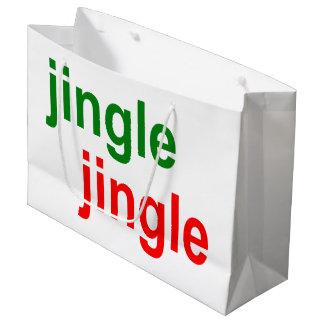 Grand Sac Cadeau Tintement tintements du carillon Bells - Noël vert