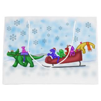 Grand Sac Cadeau Tour de Sleigh de dinosaure
