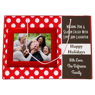 Grand Sac Cadeau Une saison de Noël d'amour et de rire