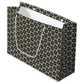 Grand sac de cadeau de motif rond de formes