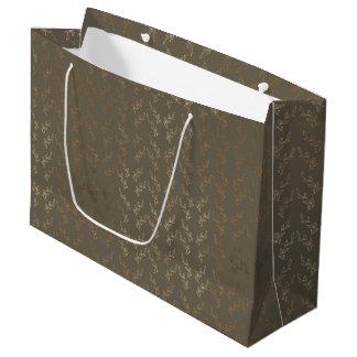 Grand sac de cadeau - vignes d'or