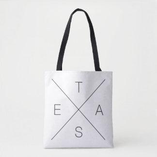 Grand sac fourre-tout noir et blanc à X le Texas