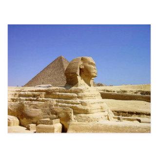 Grand sphinx de carte postale de Gizeh
