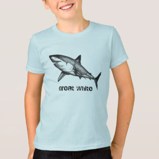 Grand T-shirt de requin blanc