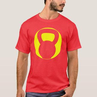 Grand T-shirt d'ovale de logo de Kettlebell