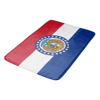 Grand tapis de bain avec le drapeau du Missouri,