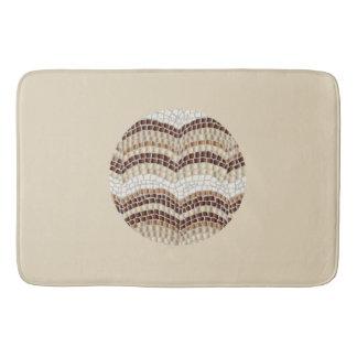 Grand tapis de bain de mosaïque beige ronde