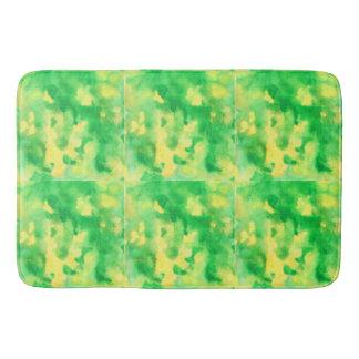 Grand tapis de bain de vert jaune