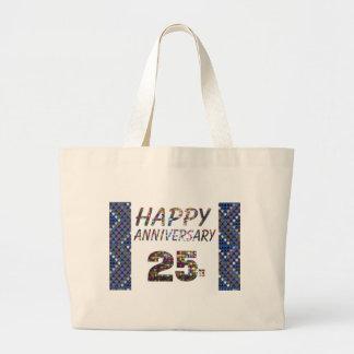 Grand Tote Bag 25 25èmes cadeaux heureux d'anniversaire