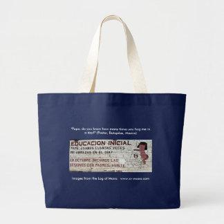 Grand Tote Bag Affiche d'enseignement primaire (peinture murale)