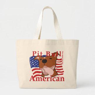 Grand Tote Bag Américain maximum Fourre-tout de pitbull
