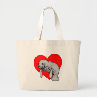 Grand Tote Bag amour de lamantin