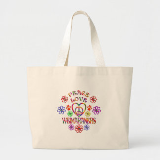 Grand Tote Bag Amour Weimaraners de paix
