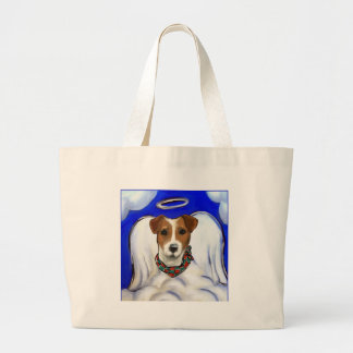 Grand Tote Bag Ange de Jack Russell Terrier