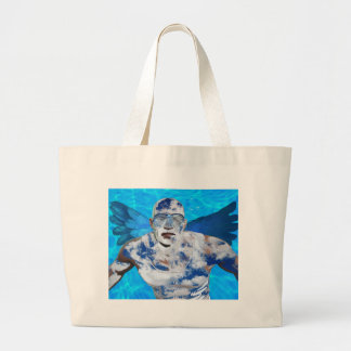 Grand Tote Bag Ange de natation