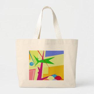 Grand Tote Bag Art coloré